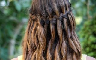 Французский водопад коса