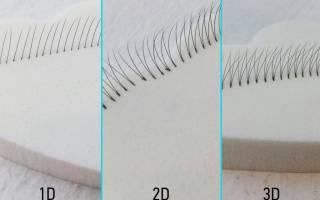 Толщина ресниц для наращивания