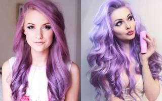 Фиолетовый цвет волос