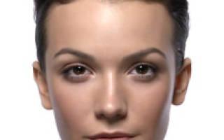 Форма бровей для овального лица