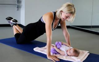 Упражнения для похудения живота после родов