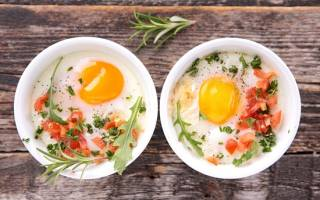 Яичница с помидорами калорийность