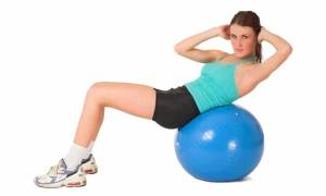 Упражнения на мяче для похудения живота