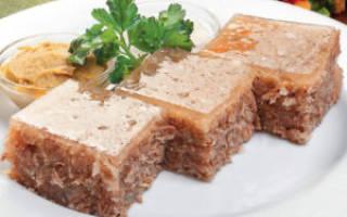 Холодец свиной калорийность