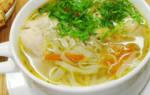 Суп куриный калорийность