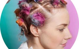 Стильная покраска волос