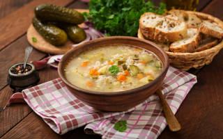 Суп рассольник калорийность