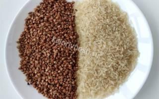 Что калорийнее гречка или рис