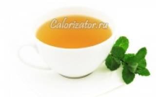 Чай зеленый калорийность