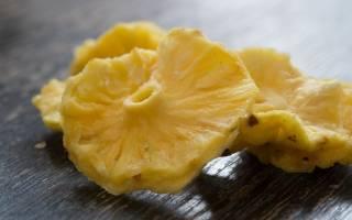 Сушеный ананас калорийность